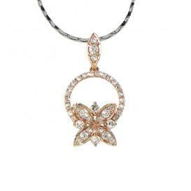 A6015040 Collier Papillon Or Jaune 750°/°° et Diamants