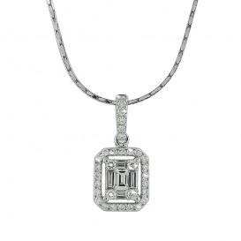 A6016640 Collier Or Blanc 750°/°° et Diamants