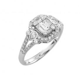 A4041640 Bague Or Blanc 750°/°° et Diamants